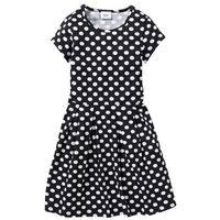 701293fd62 Sukienka shirtowa w groszki bonprix czarno-biały w groszki