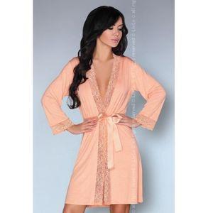 63035c75af54b3 LivCo Corsetti Fashion Natela LC 90381-1 Kore Peach Collection szlafrok