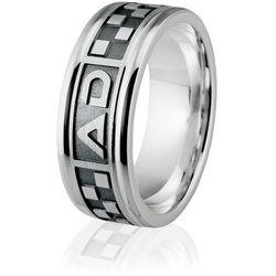 514b3d2854 Obrączka srebrna męska z grawerowanymi inicjałami - wzór Ag-188