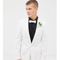 6e5b77a941980 tall wedding skinny suit jacket in stretch cotton in white - white marki Asos  design