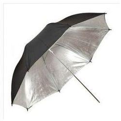 Parasolka srebrno-czarna 102cm