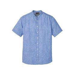 Koszula z krótkim rękawem i stójką jasnoniebieski marki Bonprix