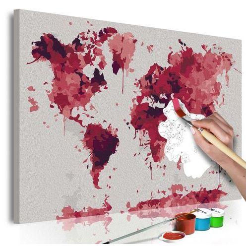 Obraz do samodzielnego malowania - akwarelowa mapa marki Artgeist