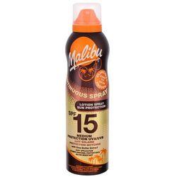 Malibu Continuous Spray SPF15 preparat do opalania ciała 175 ml dla kobiet