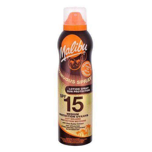 Kosmetyki do opalania, Malibu Continuous Spray SPF15 preparat do opalania ciała 175 ml dla kobiet
