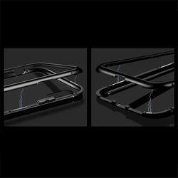Wozinsky Magnetic Case magnetyczne etui 360 pokrowiec na całą obudowę przód + tył iPhone XR czarny