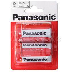 Bateria cynkowo-węglowa Panasonic R20 D - taca 2 sztuki