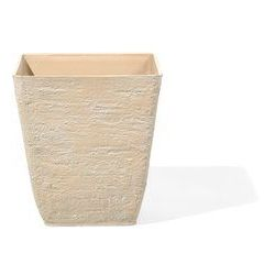 Doniczka 39 x 39 x 43 cm beżowa DELOS