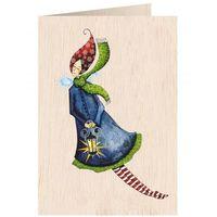 Pozostałe artykuły szkolne, Karnet drewniany C6 + koperta Święta Kobieta