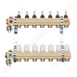"""Ferro Rozdzielacz typ RZP1"""" RZP06 S 6-drogowy zawór termostatyczny przepływomierze DO OGRZEWANIA PODŁOGOWEGO RZP06S"""