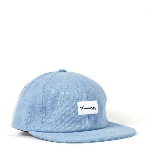 Nakrycia głowy i czapki, czapka z daszkiem DIAMOND - Og Script 6 Panel Hat - Sc Light Wash (LTWS)
