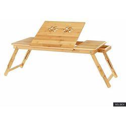 SELSEY Taca Naturalel stolik śniadaniowy i podstawka pod laptopa z pięciostopniowa regulacją i wentylacją