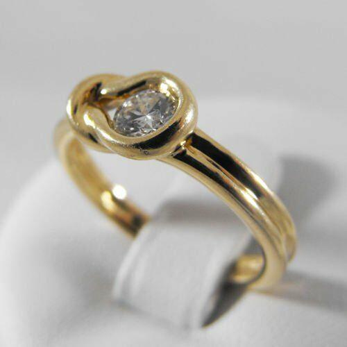 Pierścionki i obrączki, Złoty pierścionek z brylantem P1173