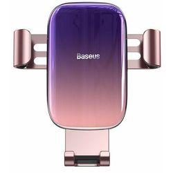 Baseus Glaze grawitacyjny uchwyt samochodowy na kratkę wentylacyjną nawiew różowy (SUYL-LG04) - Różowy