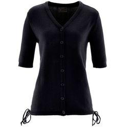 Sweter rozpinany bonprix czarny