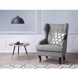 Fotel szary - tapicerowany - pikowany - do salonu - ALTA