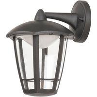 Lampy ścienne, Kinkiet Rabalux Sorrento 8125 lampa ogrodowa zewnętrzna 1x8W LED IP44 czarny matowy
