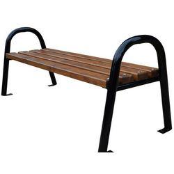 Ławka ogrodowa stalowa z rur bez oparcia 150 cm Fiemar