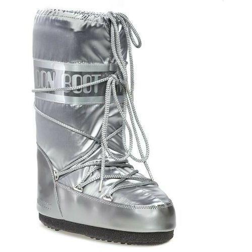 Śniegowce damskie, Śniegowce MOON BOOT - Glance 14016800002 Argento D