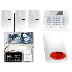 Zestaw alarmowy DSC 3x Czujnik ruchu Manipulator LCD Powiadomienie, Sterowanie, Konfiguracja GSM