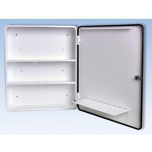 Apteczki ścienne, Szafka opatrunkowa wg DIN 13157, jednodrzwiowa, biała, wys. x szer. x gł. 462x40