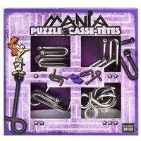 Puzzle, Łamigłowki metalowe 4 sztuki Puzzle-mania zestaw fioletowy
