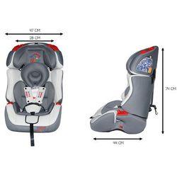 Fotelik Samochodowy KinderSafe DeLuxe ISOFIX 9-36 KG GE-S - Szary