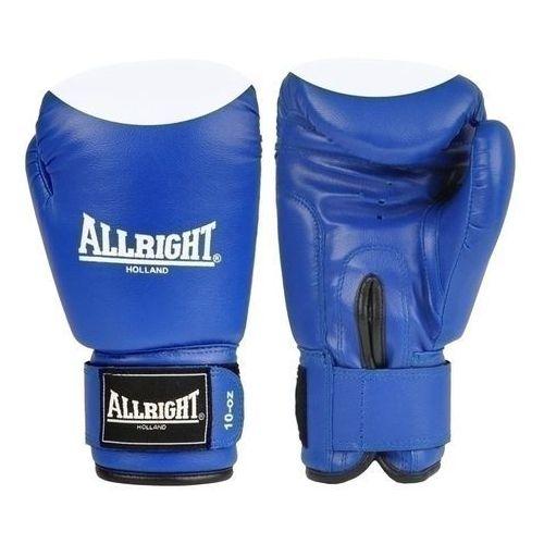 Rękawice do walki, Rękawice bokserskie Allright PVC 8oz niebiesko - białe