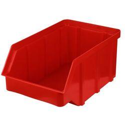 Plastikowy pojemnik warsztatowy - wym. 118 x 78 x 56 - kolor czerwony