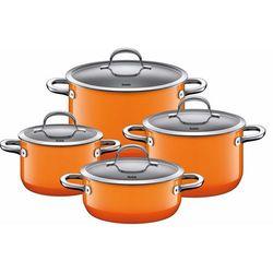 Garnki Silit Passion - 4-częściowy komplet pomarańczowe - pomarańczowy