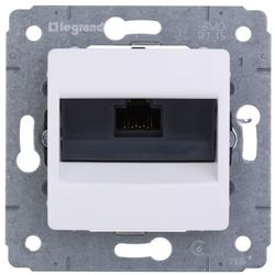 Legrand Cariva Gniazdo komputerowe pojedyncze 1xRJ45 kat.6 UTP białe 773641