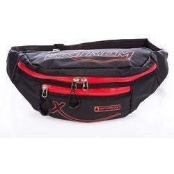 Sportowa saszetka / nerka na pas wodoodporna (czerwony) - czarny   czerwony