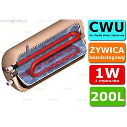 ERMET 200l poziomy z podwójną wężownicą bojler do CWU - podgrzewacz wymiennik bezobsługowy - WYSYŁKA GRATIS