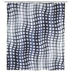 Zasłona prysznicowa, wodoodporna, antybakteryjna, anty-pleśniowa, 180 x 200 cm, 12 pierścieni, poliester, biało-czarna