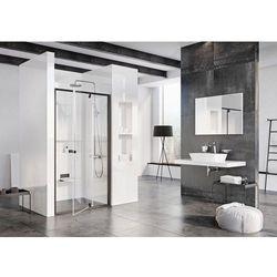 Ravak Pivot drzwi prysznicowe PDOP2-100, wys.190 cm Czarny + Transparent 03GA0300Z1
