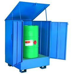 Wanna Wychwytowa Metalowa W Pełni Zabudowana Na 1 Beczkę 150 L. - 450 L. 1 Beczka Stal Lakierowana Niebieski 95 Cm X 95 Cm X 135 Cm