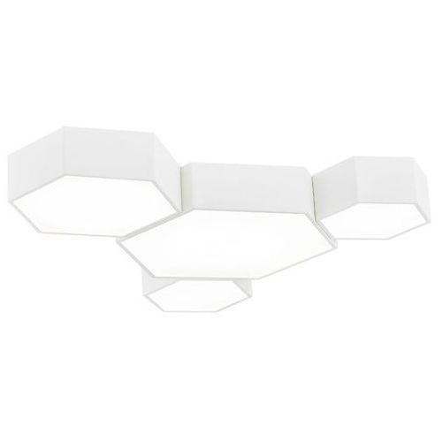 Lampy sufitowe, Plafon LAMPA sufitowa ARIZONA 1664 Argon natynkowa OPRAWA geometryczna bryła LED 46W heksagony białe