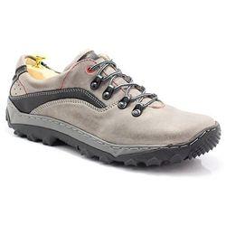 KENT 268 SZARY - Polskie buty trekkingowe,skóra - Szary ||Czarny WYPRZEDAŻ -20% 3 (-20%)