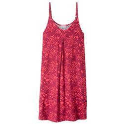 Sukienka shirtowa z nadrukiem bonprix czerwony wiśniowy - koralowy z nadrukiem