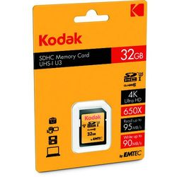 EMTEC KODAK microSDHC 34GB Class 10 U3 +Adapter