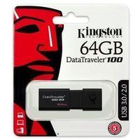 Flashdrive, Kingston DataTraveler 100 G3 64 GB, USB 3.0, Black