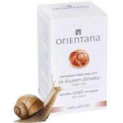 ORIENTANA Naturalny krem pod oczy ze śluzem ślimaka 15ml