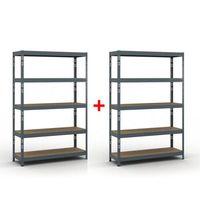 Regały warsztatowe, Regał półkowy 1800 x 1200 x 400 mm, nośność 280 kg 1+1 GRATIS Włóż do koszyka jedną sztukę, drugą sztukę wyślemy automatycznie gratis. Akcja trwa do wyprzedania zasobów.
