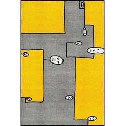Qeeboo dywan dog żółty prostokątny / andrea branzi 42002dog
