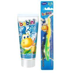 BOBINI Zestaw chłopiec Pasta do zębów 75ml + szczoteczka + kubeczek Dla dzieci 6+