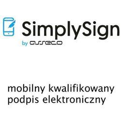 SimplySign - mobilny kwalifikowany podpis elektroniczny - odnowienie - 1 rok