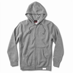 bluza DIAMOND - Micro Brilliant Zip Hoodie Heather Grey (HTGR) rozmiar: L