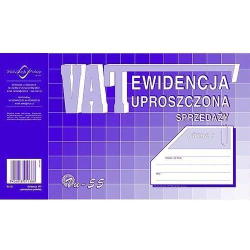 Druki akcydensowe, Ewidencja VAT sprzedaży A5 (uproszczona) (OFFSET) MICHALCZYK I PROKOP - X04740