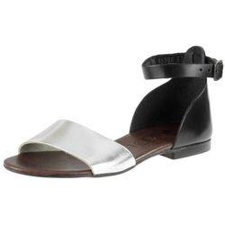 Sandały Nessi 49204 - Czarne 11 Srebrne F (brązowa wkładka)