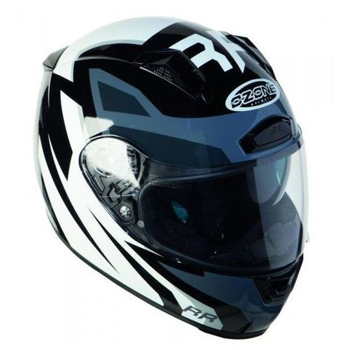Kaski motocyklowe, KASK OZONE INTEGRALNY RC-01 PINLOCK READY BLACK/GREY/WHITE